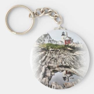 Reflections of Pemaquid Keychain