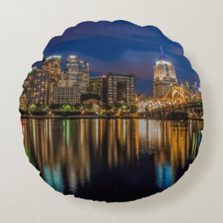 Reflections of Pittsburgh Round Pillow