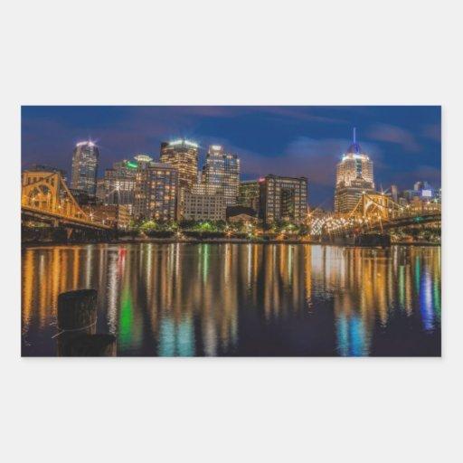 Reflections of Pittsburgh Rectangular Sticker