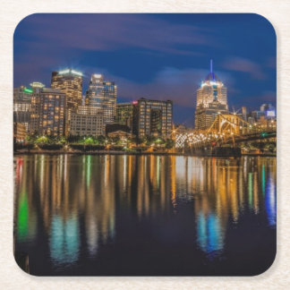 Reflections of Pittsburgh Square Paper Coaster