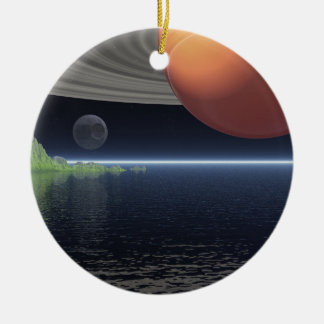 Reflections of Saturn Ceramic Ornament