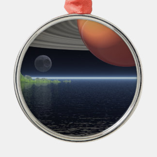 Reflections of Saturn Metal Ornament