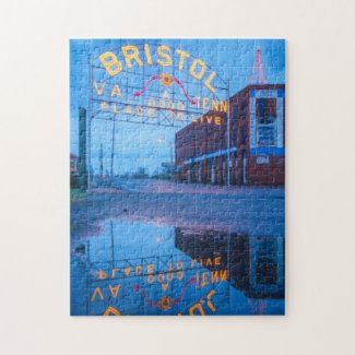 Reflections of the Bristol Sign Jigsaw Puzzle