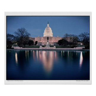 Reflections of the U.S. Capitol Poster