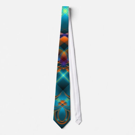 Reflections of Turquoise Tie