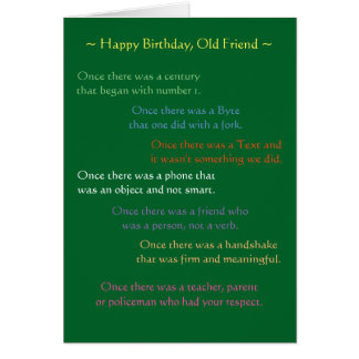 Reflections on a Birthday Card