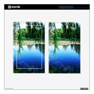 Reflections on a lake decals for kindle fire