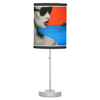 'Reflections on a Shore' on a table lamp
