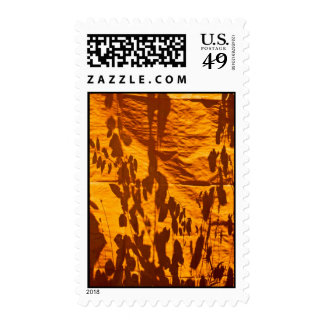 Reflections on an Orange Wall Postage