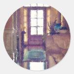 Reflections On Interior Design Classic Round Sticker