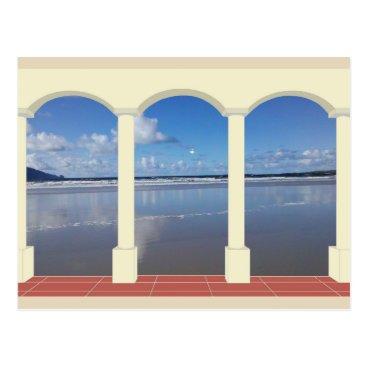 cloudsendgallery Reflections on Irish Beach Postcard