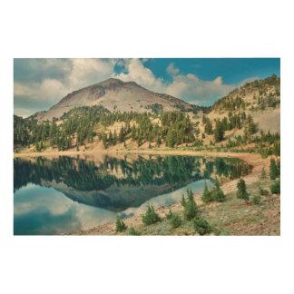 Reflections On Lake Helen 2 Wood Print