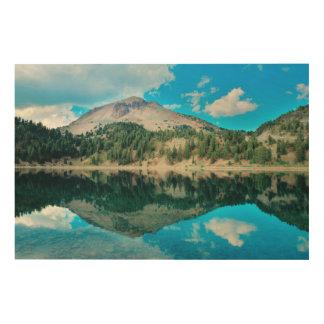 Reflections On Lake Helen Wood Print