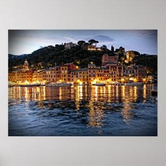 Reflections on Portofino, Italia Poster