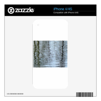 Reflections on the ice skin for iPhone 4S