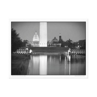 Reflections on the National Mall Canvas Print