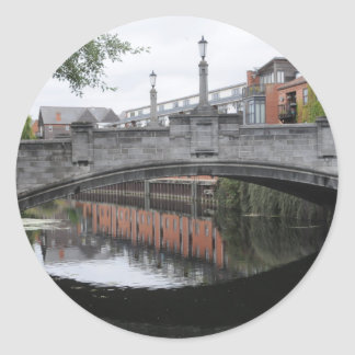 Reflections on the River Wensum, Norwich Classic Round Sticker