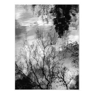 Reflections on water photo print