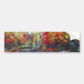 Reflections Painting Car Bumper Sticker