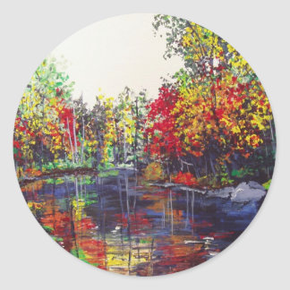 Reflections Painting Classic Round Sticker