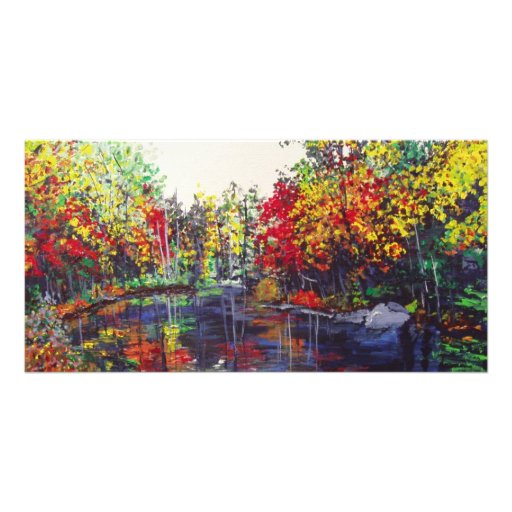 Reflections Painting Photo Greeting Card