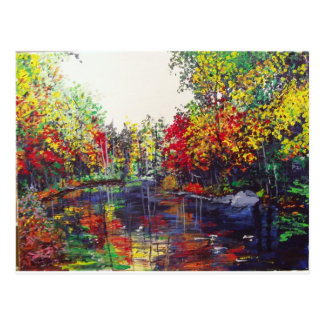 Reflections Painting Postcard
