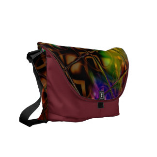 Reflections Pattern In Multi Colors Courier Bag