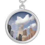 Reflections The Twin Towers World Trade Center Round Pendant Necklace