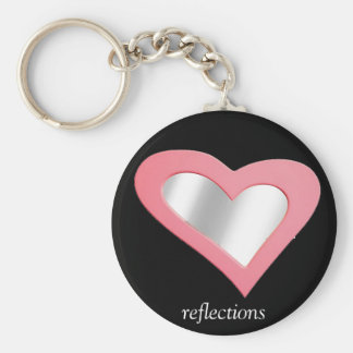 Reflections too! basic round button keychain