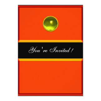REFLECTIONS  TOPAZ , black yellow orange Card