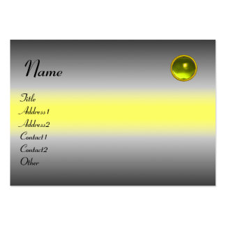 REFLECTIONS  TOPAZ  MONOGRAM, grey white yellow Large Business Cards (Pack Of 100)