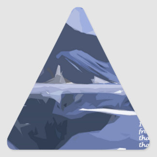 Reflections Triangle Sticker