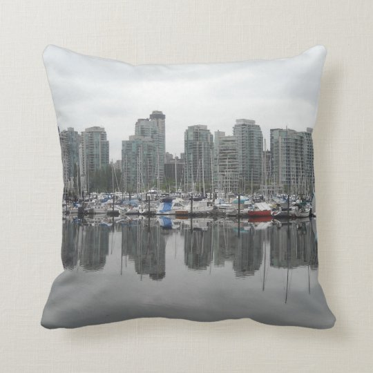 Reflections - Vancouver B.C. Throw Pillow