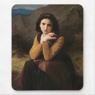 Reflective Beauty (Mignon Pensive) 1869 Bouguereau Mouse Pad