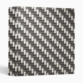 Reflective Carbon Fiber Textured 3 Ring Binder
