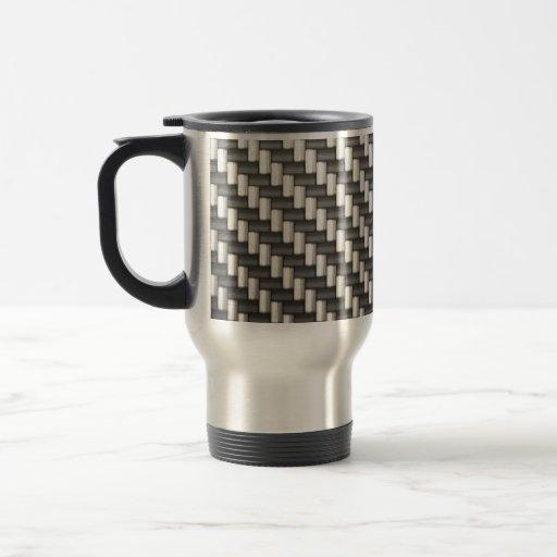 Reflective Carbon Fiber Textured Coffee Mugs