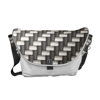 Reflective Carbon Fiber Textured Courier Bag