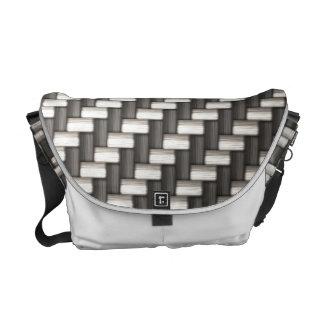 Reflective Carbon Fiber Textured Commuter Bags