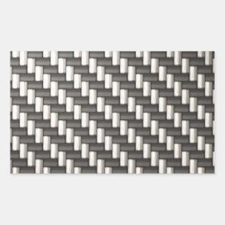 Reflective Carbon Fiber Textured Rectangular Sticker