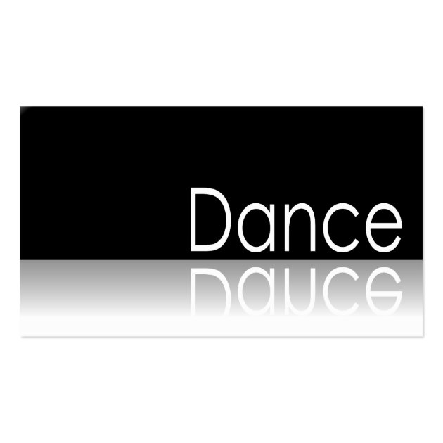 Reflective dance business card 893539 for Dance business cards