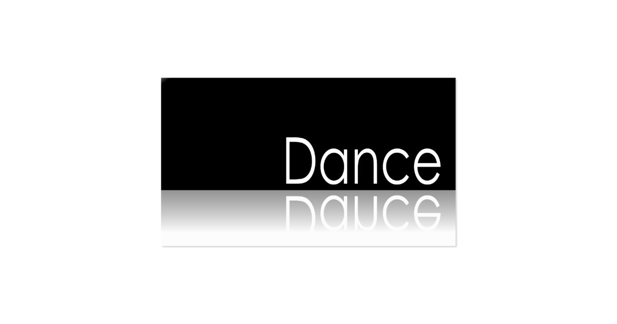Reflective dance business card zazzle for Dance business cards