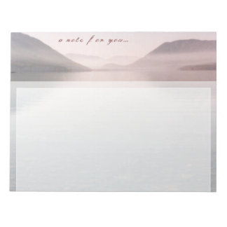 Reflective Dawn Lake   Notepad   Customizable
