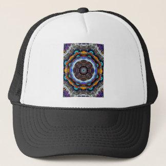 Reflective Fractal Mandala Trucker Hat