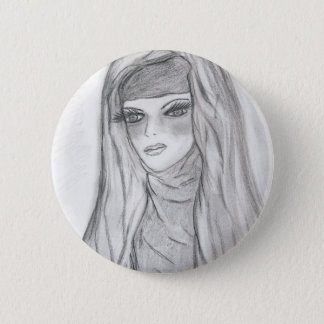 Reflective Mary Pinback Button