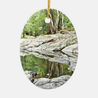 Reflective Pool - Landscape.jpg Ceramic Ornament