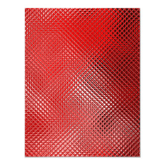 Reflective Red 30th Birthday Party Event Card