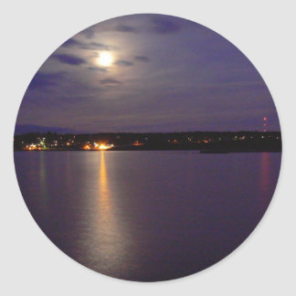 Reflective River Round Stickers