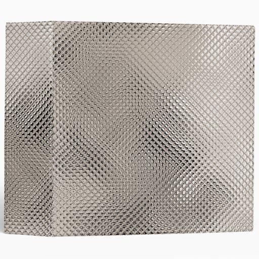 Reflective Sepia Metal Binder 3 Ring Binders