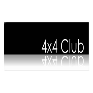 Reflective Text - 4x4 Club - Promo Business Card