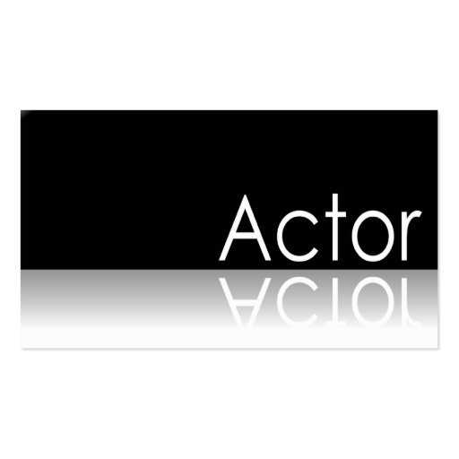 Reflective Text Actor Business Card